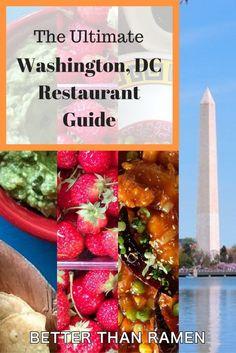 The ultimate, neighborhood-by-neighborhood Washington, DC restaurant guide.