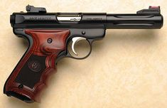 Ruger Mark III .22lr with custom grips.