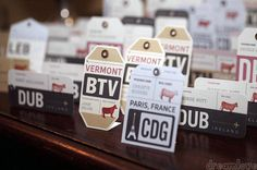 If you are having a destination or travel-themed wedding, these creative and unique travel-themed escort cards will help set the tone perfectly.