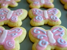 Butterfly Sugar Cookies  チョウチョのシュガークッキーとアイシング