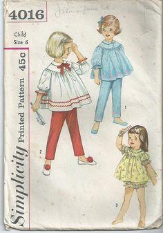 Vintage Pattern Childrens Pattern Child's Pyjamas