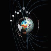 With more than two years of measurements by ESA's Swarm satellite trio, changes in the strength of Earth's magnetic field are being mapped in detail.