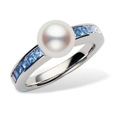 Mikimoto Ocean Ring #pearl #sapphire #ring #jewelry