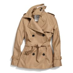 The Classic Short Trench from Coach.....not that i would ever actually buy this, but like this