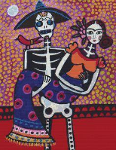 Frida Kahlo Cross-stitch