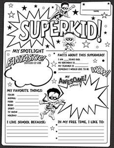 Superhero! Fill-In Poster Sets