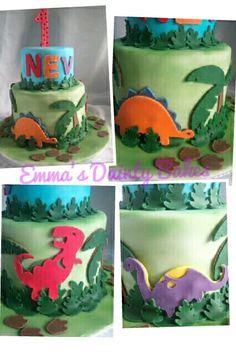 Cricut Dinosaur cake