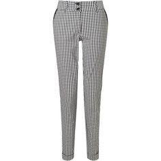 James Lakeland Gingham Turn Up Trousers ($120) ❤ liked on Polyvore featuring pants
