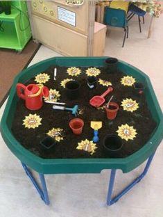 sensory: small world play Nursery Activities, Toddler Activities, Preschool Activities, Outdoor Activities, Tuff Spot, Eyfs Classroom, Outdoor Classroom, Sensory Table, Sensory Bins