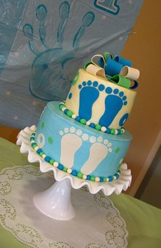 baby boy baby shower cake! Pretty colors!