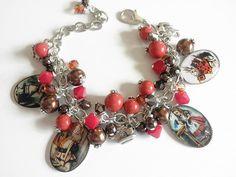 Alice in Wonderland  Charm Bracelet Alice in by TreasuresofJewels