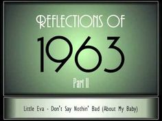 Reflections Of 1962 The music brings back sweet memories. Music Do, Kinds Of Music, Music Songs, Good Music, Music Videos, Music Stuff, Music Clips, 100 Songs, Old Song