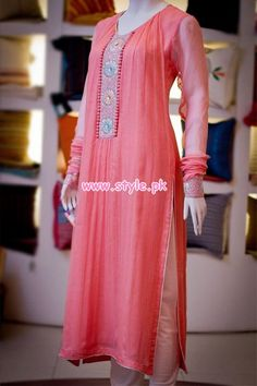 Thredz Latest Kurta Designs For Girls 2012 010