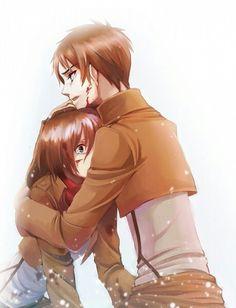 Anime couple MIKASA X EREN