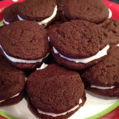 Gluten-free chocolate sandwich cookies (also dairy-free and egg-free!)