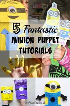 5 Fantastic Minion Puppet Tutorials - Crafts on Sea