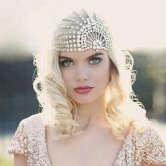Every bride wants to feel like a star on her wedding day! Take a peek at our celestial inspiration board. (Bridal cap WillowMoone on Etsy)
