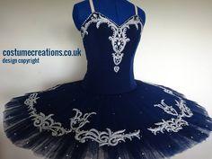 Navy Blue Classical Ballet Tutu custom made by tutu maker Monica Newell Costume Creations UK - London Birmingham Ediniburgh