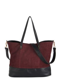 Alright, Berry On! Tote. When heading to the local wine tasting with your pals, you're sure to have this sleek bag in tow! #red #modcloth