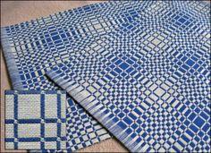 Eva Stossel: Double Weave Placemats. 8 shafts