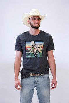 62a51ffad2f5f6 Lazy J Home Sweet Texas Charcoal Gray Short Sleeve T-Shirt