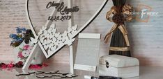 Personalized Wedding Anniversary Guest Book Alternative by DecoJubilee Wood Guest Book, Guest Book Tree, Guest Book Sign, Wedding Guest Book, Book Table, Guest Book Alternatives, Book Layout, Personalized Wedding, Wedding Anniversary