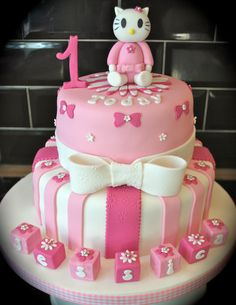 Hello Kitty 1st Birthday Cake
