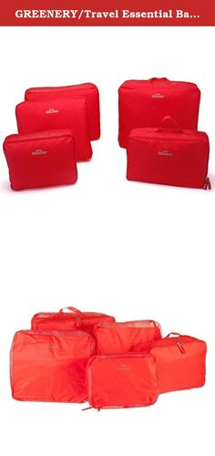 GREENERY/Travel Essential Bags-in-Bag,Travel Storage Bag Organisers Set of 5 (red, 5-set). Features: 100% Brand New and High Quality. It is made of high quality Polyester Fiber material. Durable. Best box to storage Travel Clothes, etc Easy to find what you want and save your time. Multi-color and sizes available for your choice Size: Bag 1:37*30*14cm(with handle) Bag 2:29*19*11cm(with handle) Bag 3:37*27*7cm Bag 4:31*27*7cm Bag 5:26*20*7cm .
