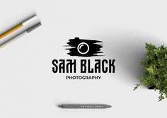 premade logo design · camera brush · watermark logo · calligraphy design · photography logo · premade branding · small business logo by artWallgrays on Etsy