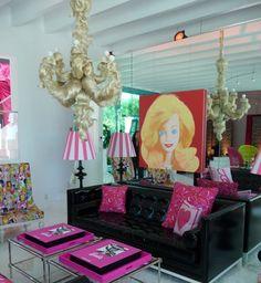 Barbie hair chandelier