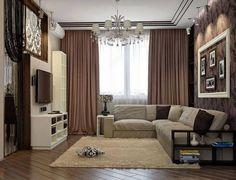Sala pequeña y de buen gusto