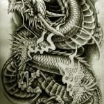Oriental Dragon Tattoo Style (2)
