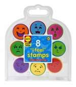 For teaching young children about emotions, the I Feel Stamp Kit is a great tool. Feeling sad? Stamp a blue frown. Having a happy day? Try a yellow smile face! Stamp on paper, create a mood journal, or just talk about the different faces. It's a great way to help your little ones understand their feelings. Eight stamps and a washable ink pad in a carry-along case.