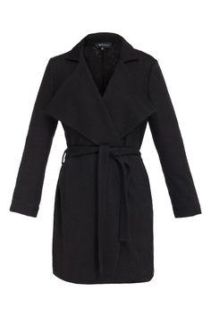 #mostrami #fashion #black Płaszcz wiązany czarny