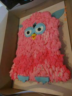 Furby cupcake cake