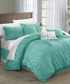 This Blue Francesca Comforter Set is perfect! #zulilyfinds