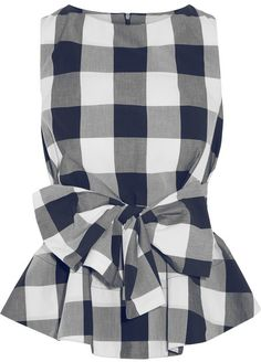 Studio Nicholson Toshima gingham cotton-poplin top