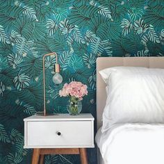 "70 Likes, 3 Comments - Designbx (@designbx_) on Instagram: ""What a clever design pop with that fabulous wallpaper! 🌿 • @designbx_ • @justinablakeneyhome •"""