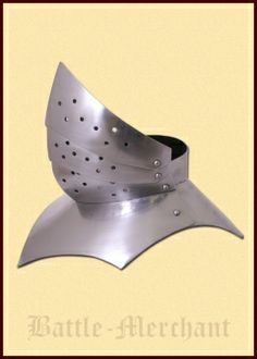 Gothic Gorget, 15th century, 16G steel