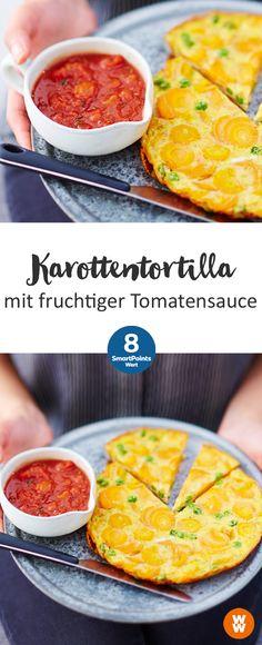 Karottentortilla mit fruchtiger Tomatensauce | 8 SmartPoints/Portion, Weight Watchers, fertig in 30 min.