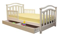"Dream on Me ""Elora Collection"""" Toddler Bed with Storage Drawer - White"