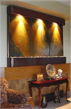Indoor Wall Water Fountain Feature - Features / Fountains by exaltedfountains, via Flickr