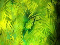 Florida Green Batik Fabric 100 Percent Cotton by CurlicueCreations, $8.70
