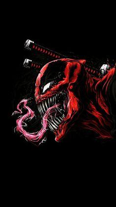 34 marvel, Deadpool, carnege, enemy combination, - Home Venom Comics, Marvel Venom, Marvel Art, Marvel Heroes, Marvel Comics, Epic Heroes, Deadpool Hd Wallpaper, Avengers Wallpaper, Art Deadpool