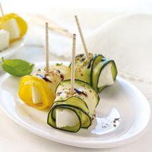 Zucchini-Ziegenkäse-Röllchen
