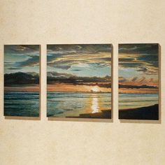 Quiet Skies Triptych Canvas Set, Set of Three