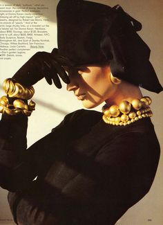 I love these bracelets from the August 1985 issue of Vogue.