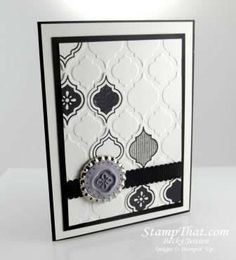 Stampin Up! Mosaic Madness black and white is so elegant