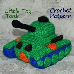 Crochet Pattern. Little Toy Panzer Tank by InspiredCrochetToys