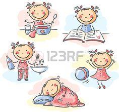 Cartoon Little Girl Ilustraciones Vectoriales, Clip Art Vectorizado Libre De Derechos. Image 31896396.